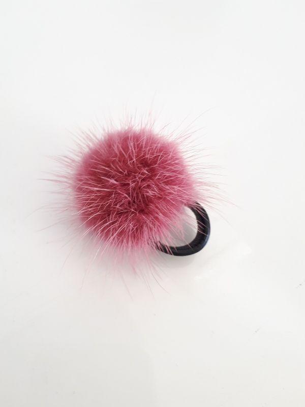 Σομόν (ruddy pink ) γούνινο δαχτυλίδι