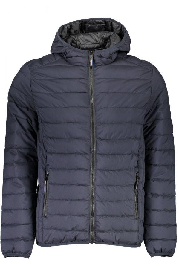TRUSSARDI-Hooded blue  jacket