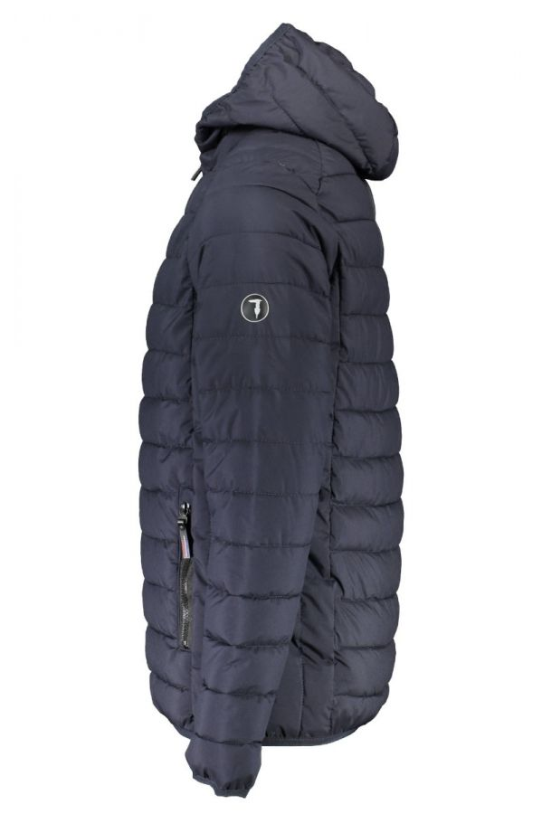 TRUSSARDI-Hooded blue  jacket