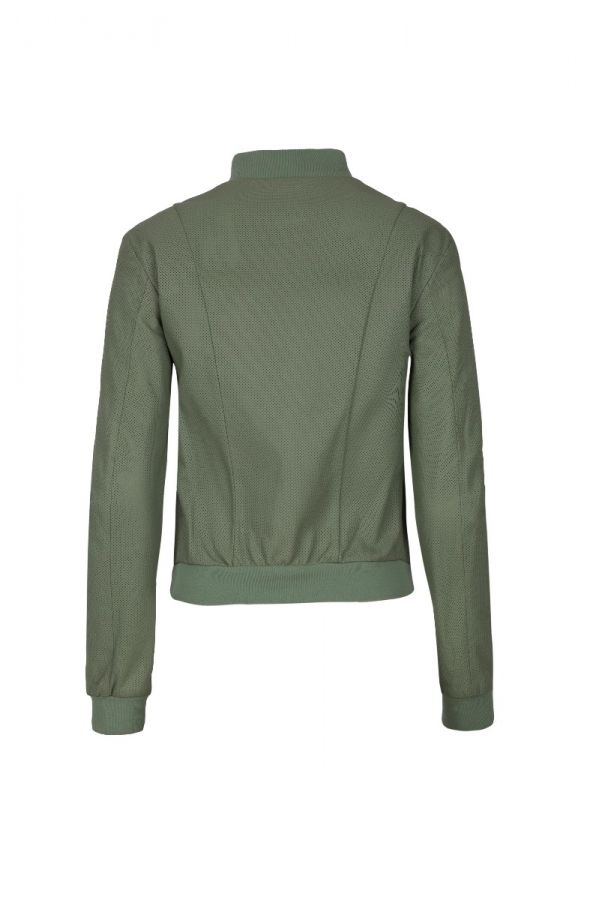 GALLOTTI- Γυναικείο πράσινο καστόρ  μπουφάν με πλεκτό.