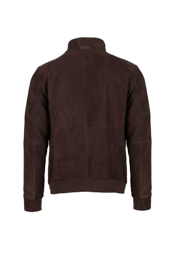 GIMO'S brown suede  jacket for men