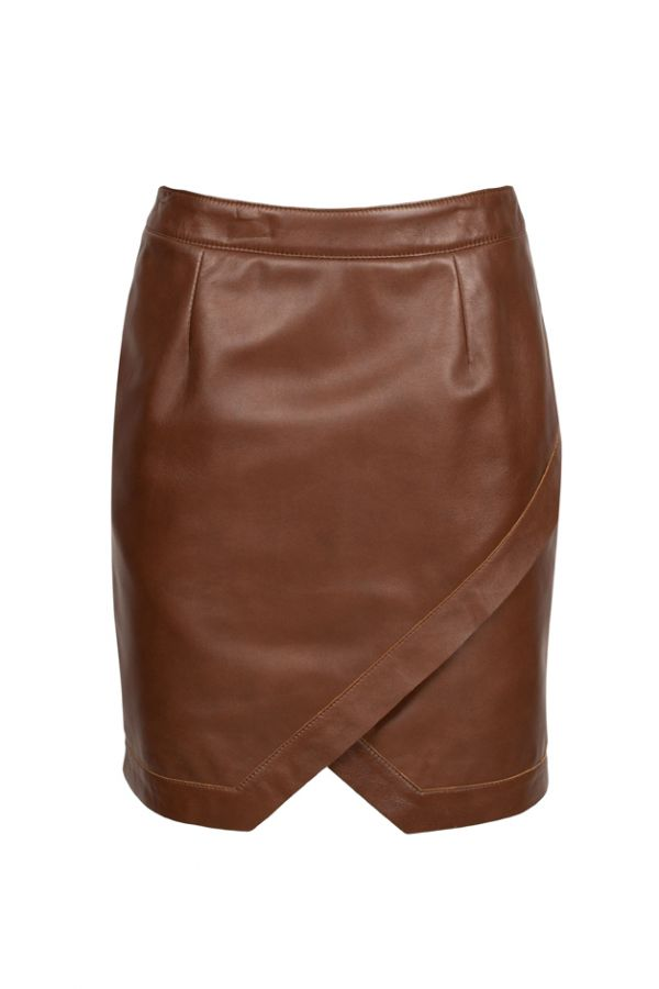 LIANA - Ταμπά δερμάτινη φούστα