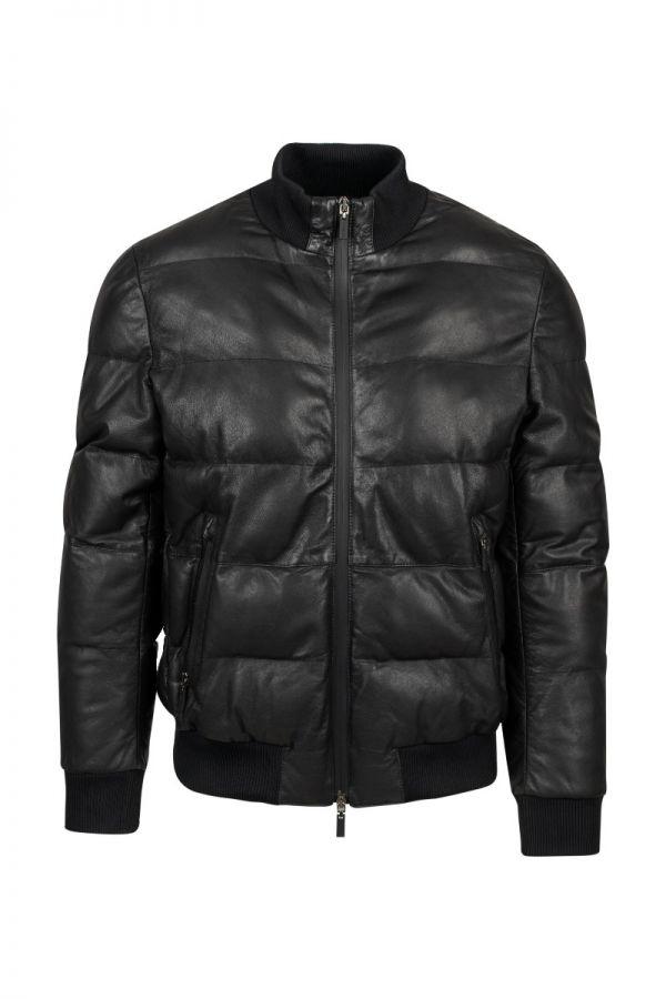 GIMO'S - Men's padded leather jacket