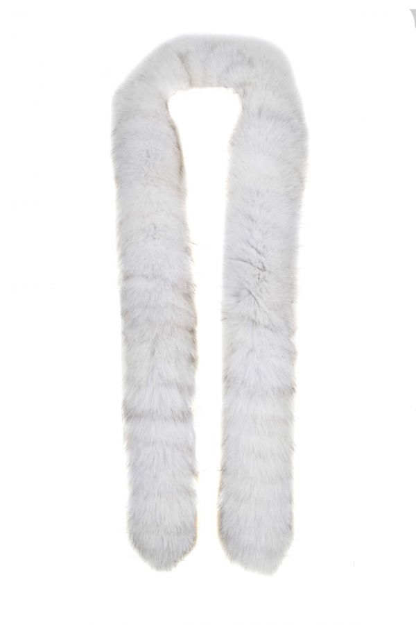 Λευκό γούνινο κασκόλ