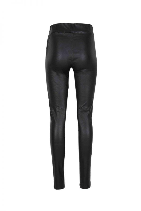 SAINT-Ελαστικό δερμάτινο ψηλόμεσο παντελόνι