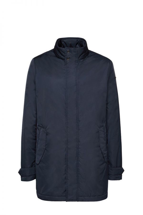 GEOX-SESTRIERE- Midnight blue coat for men size 60