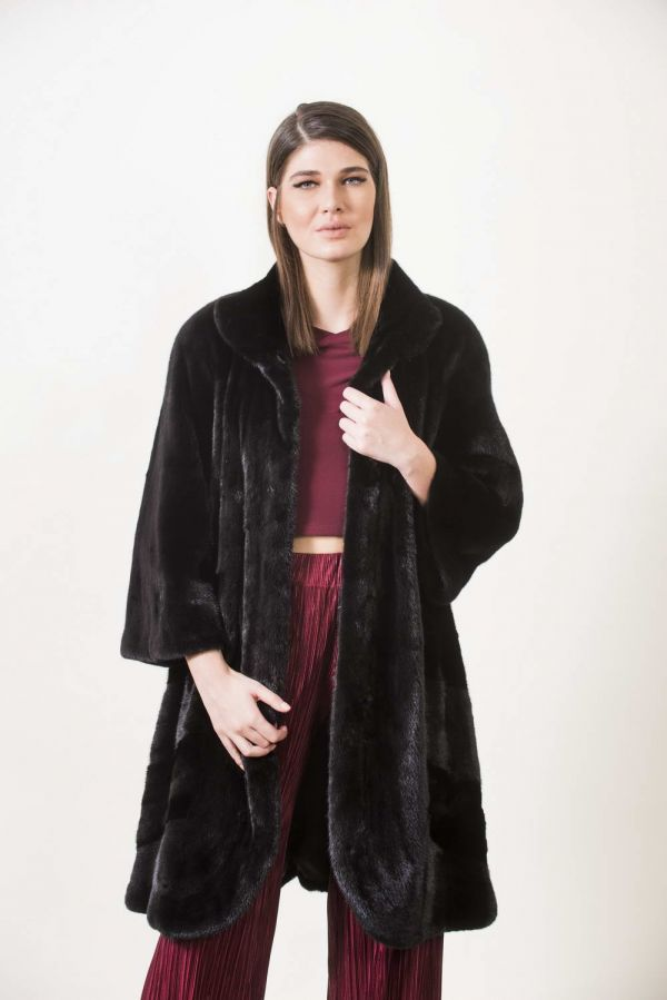 Black SAGA βιζόν παλτό