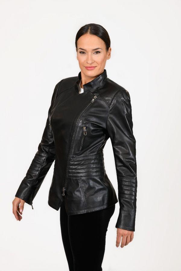 DAPHNE-  Μεσάτο  biker δερμάτινο jacket.